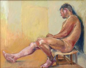 Alan dozing (60cmx50cm)